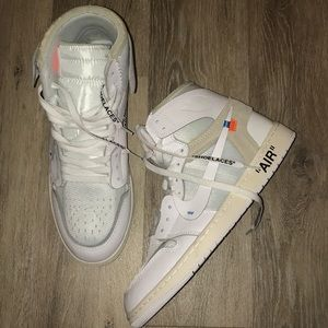 Jordan 1 off whites men's shoe